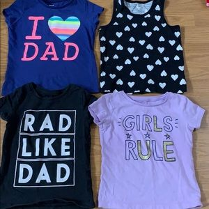 4 Carter's tops size 3T